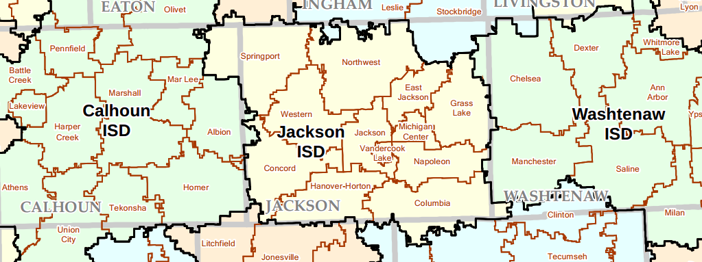 Jackson county MI School District map - Production Realty