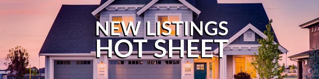 New Listings Hot Sheet Jackson MI