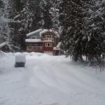 unplowed driveway