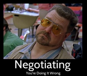 Negotiating You're Doing It Wrong